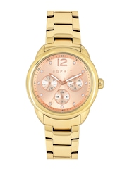 ESPRIT Women Rose Gold-Toned Dial ES108102003