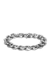 Peora Men Silver-Toned Chain Bracelet