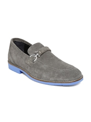 Woodland Men Charcoal Grey Suede Casual Shoes