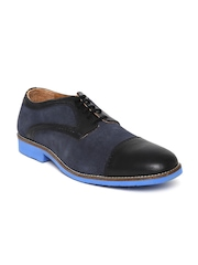 Woodland Men Navy Suede Casual Shoes