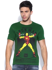 IRON MAN By KNK Green Iron Man Printed T-shirt