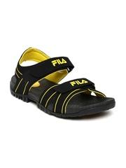 FILA Men Black Connector Sports Sandals