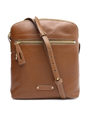 Hidesign Brown Leather Sling Bag