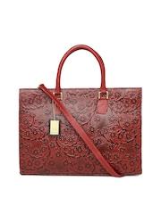 Hidesign Red Leather Handbag