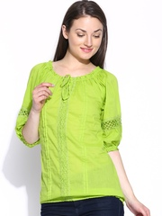 U&F Green Crochet Top