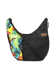 Wiki by Wildcraft Black Printed Sling Bag