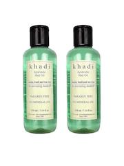 Khadi Set of 2 Neem Basil & Tea Tree Hair Oils