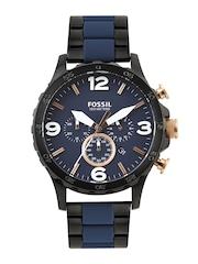 Fossil Men Navy Dial Chronograph Watch JR1494I