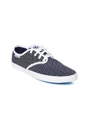 Adidas Originals Women Navy & White Printed ADRIA PS Canvas Shoes