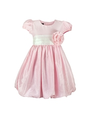 Peaches Girls Pink Balloon Dress