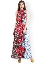 Kazo Multicoloured Floral Print Maxi Dress