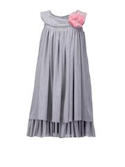 Peaches Girls Grey A-Line Dress