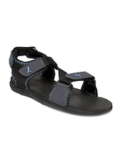 PUMA Men Black & Grey Royal Sports Sandals