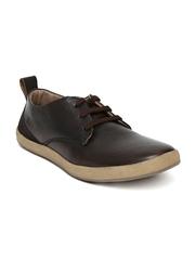 Buckaroo Men Dark Brown Gibson Leather Casual Shoes