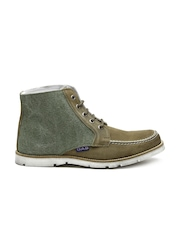 GAS Men Olive Green Grunge Casual Shoes