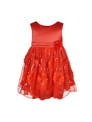 Toy Balloon kids Red Sequinned Fit & Flare Dress
