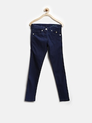 United Colors of Benetton Girls Navy Skinny Stretch Fit Jeans