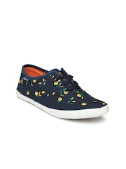 Boltio Women Navy Printed Casual Shoes