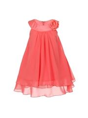 Magic Fairy Girls Coral Pink A-line Dress