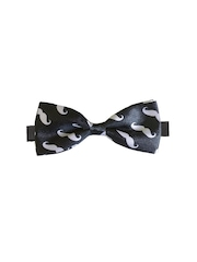 Blacksmith Black Printed Bowtie