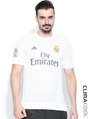 Adidas White Printed Real Fly Emirates Football Jersey