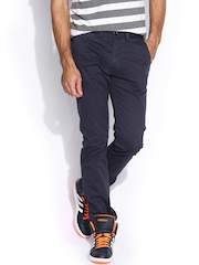 Breakbounce Navy Boons Bear Hug Slim Fit Chino Trousers