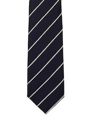 Tossido Navy & White Striped Tie