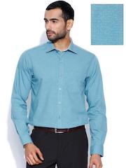 Wills Lifestyle Blue Slim Formal Shirt