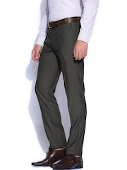 Wills Lifestyle Grey Skinny Fit Formal Trousers