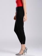 GUESS Black Marilyn Zip Cropped Slim Fit Jeans