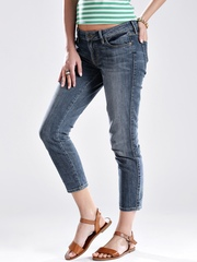 GUESS Blue Crop Skinny Fit Jeans