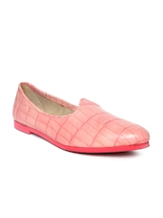 BARESKIN Men Dusty Pink Leather Casual Shoes