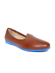 BARESKIN Men Brown Leather Casual Shoes