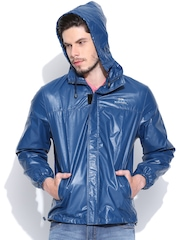 Fort Collins Blue Hooded Rain Jacket