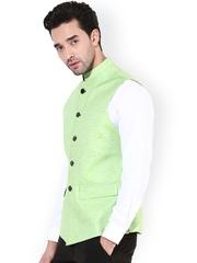 Monteil & Munero Green Nehru Jacket
