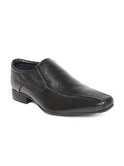 Hush Puppies by Bata Men Black Leather Semiformal Shoes