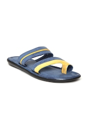 Bata Men Blue & Yellow Sandals