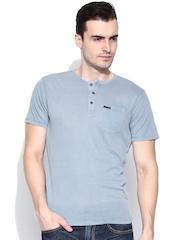 CAT Blue Henley T-shirt