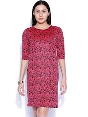 Sepia Pink & Black Printed Shift Dress