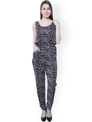 Florrie Fusion Black Printed Jumpsuit