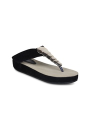Shoetopia Women Black Flatforms