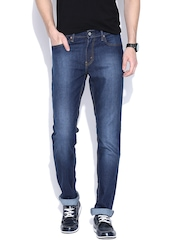 Levis Blue Washed Slim Jeans 511