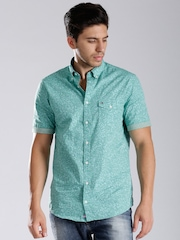 Tommy Hilfiger Green Printed New York Fit Shirt