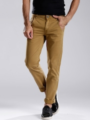 ROUTE 66 Khaki Kentucky Slim Fit Chino Trousers