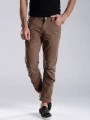 ROUTE 66 Brown Santa fe Slim Fit Chino Trousers