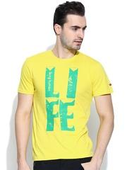 Being Human Clothing Yellow Printed T-shirt