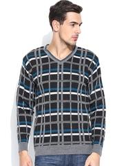 Duke Charcoal Grey Checked Sweater