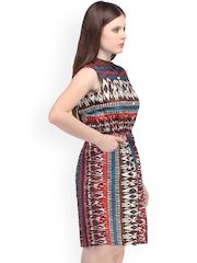 Ruhaans Multicoloured Printed A-Line Dress