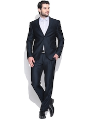 Blackberrys Navy Single-Breasted Slim Formal Suit