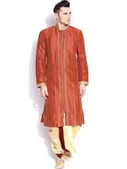 Sanwara Orange & Beige Kurta with Dhoti Pants